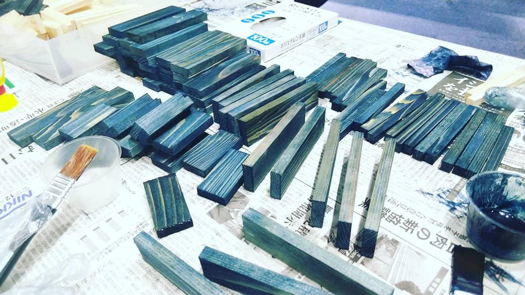 木頭杉×藍染め オリジナルランタンづくりワークショップ